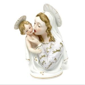 VTG Madonna and Child Jesus Lefton China figurine